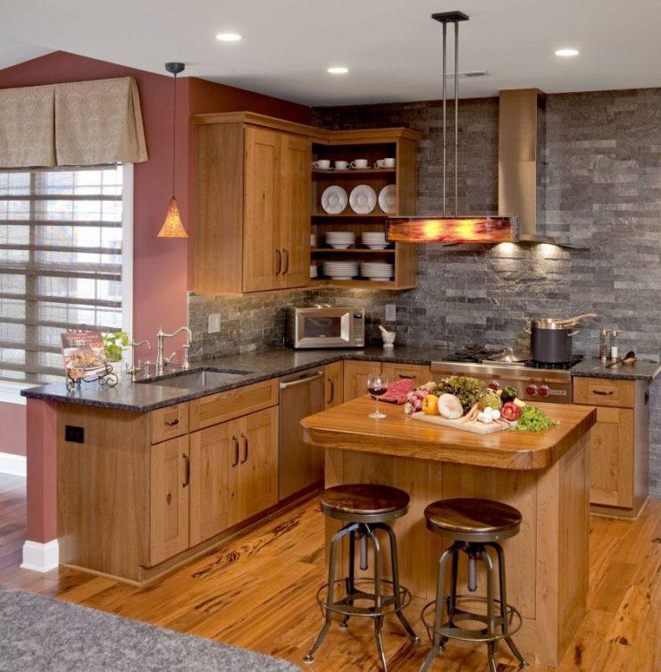 Оригинальное оформление кухни фото