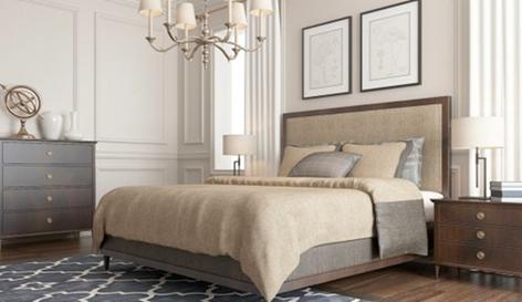 Шикарная спальня в бежевых тонах