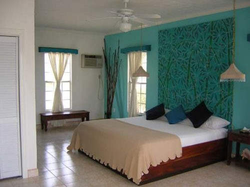 Шикарная комната в бирюзовом цвете