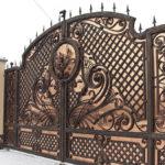 Производство кованых ворот разных видов на заказ